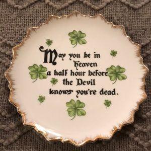 Vintage Irish Blessing Porcelain Plate